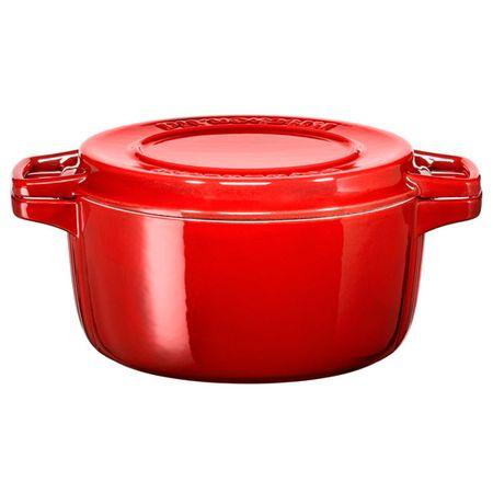 Купить Кастрюля (сверхпрочное покрытие) KitchenAid KCPI40CRER 3,8л