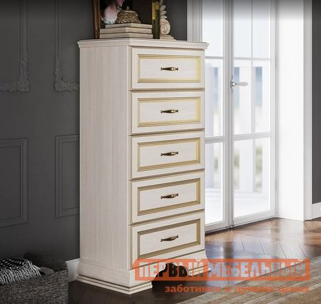 Комод Первый Мебельный Комод высокий Сиена