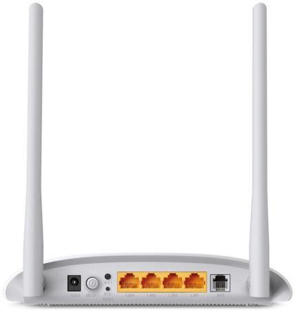 Фото Беспроводной маршрутизатор ADSL TP-LINK TD-W8961N 802.11bgn 300Mbps 2.4 ГГц 4xLAN RJ-45 белый. Купить в РФ