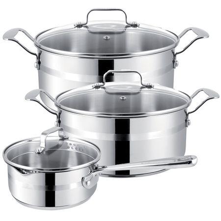 Купить Набор посуды (Jamie Oliver) Tefal E874S574 3шт.: 1,4/2,8/4,7л