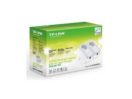 Фото Комплект адаптеров Powerline TP-LINK TL-PA4010PKIT 10/100Mbps 500Mbps. Купить в РФ