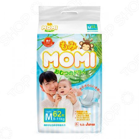 Подгузники MOMI М (6-11 кг) М (6-11 кг)