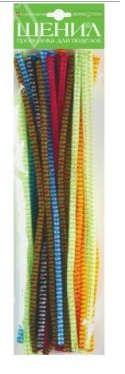 Набор для творчества HOBBY TIME, Проволока пушистая шенил Блестящая O 6мм, 30см, 30шт, 6 цветов