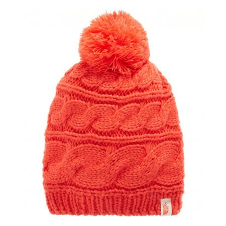 Шапка The North Face The North Face Triple Cable Pom Beanie красный ONE