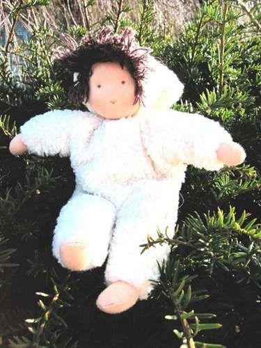 Набор для творчества, Набор для шитья вальдорфской куклы De Witte Engel Пупс в белом 23см A49410