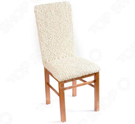 Натяжной чехол на стул Еврочехол Еврочехол «Микрофибра. Ваниль» «Микрофибра. Ваниль»