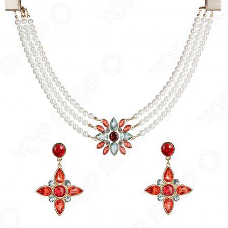 Ожерелье и серьги Лаура Аматти «Роскошный цветок» «Роскошный цветок»