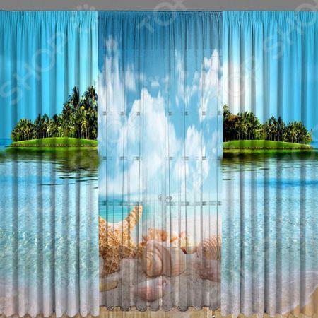 Комплект фотоштор с тюлем ТамиТекс «Южный материк» «Южный материк»