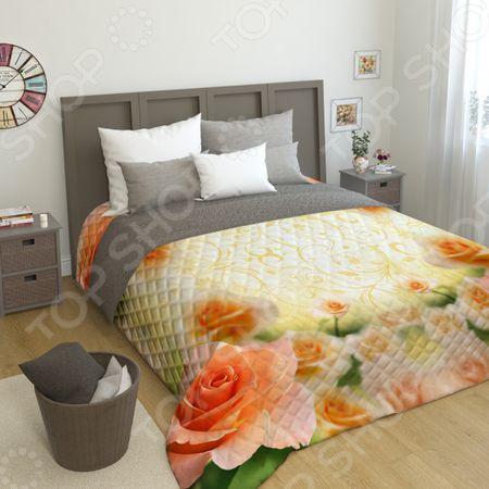 Фотопокрывало стеганное Сирень «Оранжевая роза» «Оранжевая роза»