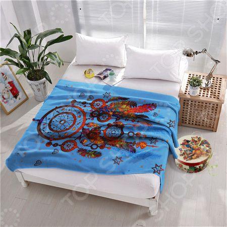 Плед флисовый ТамиТекс «Ловец снов». Цвет: синий «Ловец снов». Цвет: синий
