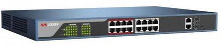 Фото Коммутатор Hikvision DS-3E0318P-E 16-ports 10/100Mbps. Купить в РФ