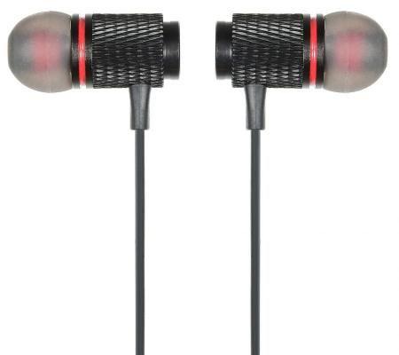 Гарнитура вкладыши Digma BT-05 черный красный беспроводные bluetooth (в  ушной раковине) 1fa0692ed0fa2