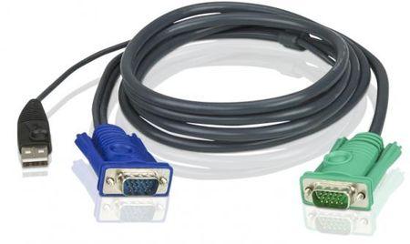 Фото Кабель ATEN 2L-5201U HD15M/USB A(M)--SPHD15M 1.2м. Купить в РФ