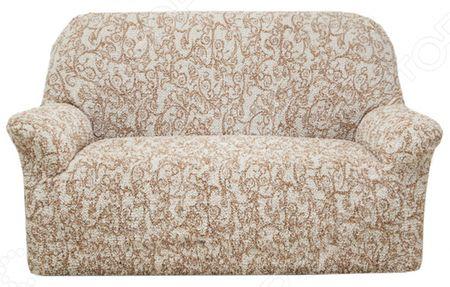 Натяжной чехол на двухместный диван Еврочехол Еврочехол «Виста. Антея»