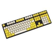 Bee Yellow/White 108/158 keys dye sublimated pbt keycap for mechanical  keyboard Cherry Filco Ducky keycap Cherry profile