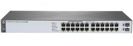Фото Коммутатор HP 1820-24G-PoE+ управляемый 24 порта 10/100/1000Mbps 2xSFP J9983A. Купить в РФ
