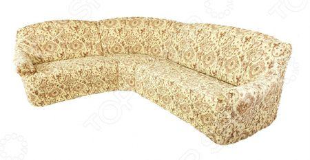 Натяжной чехол на классический угловой диван Еврочехол Еврочехол «Виста. Флоренция»