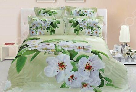 Комплект постельного белья с эффектом 3D «Цветение». 1,5-спальный