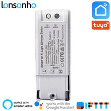 Lonsonho Tuya Smart Life App Wifi Smart Dimmer Light Switch Relay Wireless  Remote Control Smart Home Alexa Google Home Mini