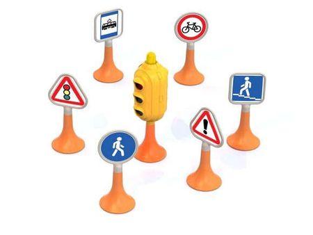 Купить Игрушка, Нордпласт Набор Дорожные знаки №1 светофор, 6 знаков