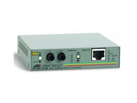 Фото Медиаконвертер Allied Telesis AT-MC101XL-20/60 100TX RJ-45 to 100FX ST Fast Ethernet. Купить в РФ
