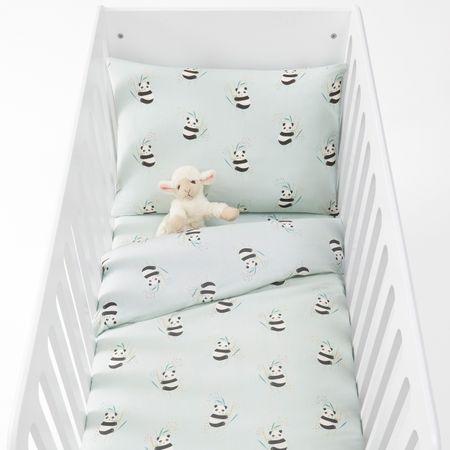 Комплект постельного белья для детской кроватки с рисунком панды VICTOR