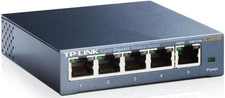 Фото Коммутатор TP-LINK TL-SG105 5-ports 10/100/1000Mbps. Купить в РФ