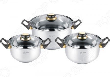 Здесь можно купить RS/CW 1230  Набор кастрюль Rainstahl RS/CW 1230 <![CDATA[Наборы посуды для готовки]]>