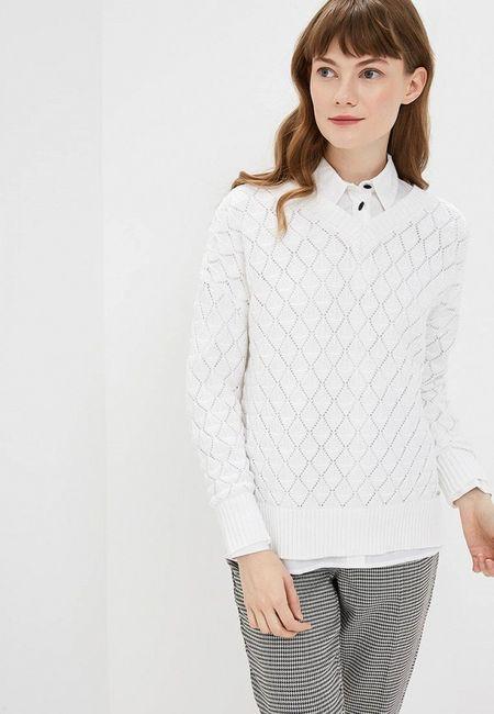 d593fb2befa Пуловер Conso Wear. Цвет  белый. Сезон  Весна-лето 2019. С бесплатной доставкой  и примеркой на Lamoda.