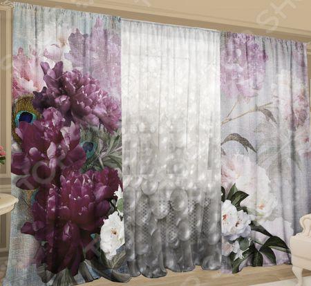 Комплект фотоштор с тюлем ТамиТекс «Юнона и бисер» «Юнона и бисер»
