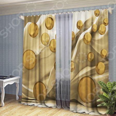 Комплект штор ТамиТекс «Золотые капли» «Золотые капли»