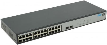 Фото Коммутатор HP 1420-24G-2SFP управляемый 24 порта 10/100/1000Mbps 2xSFP JH017A. Купить в РФ