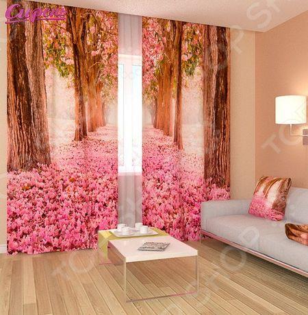 Фотошторы Сирень «Розовый тоннель» «Розовый тоннель»