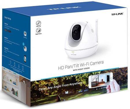 """Фото Камера IP TP-LINK NC450 CMOS 1/4"""" 3.6 мм 1280 x 720 H.264 RJ-45 LAN Wi-Fi PoE белый. Купить в РФ"""