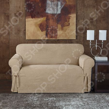 Натяжной чехол на двухместный диван Медежда «Брайтон» «Брайтон»
