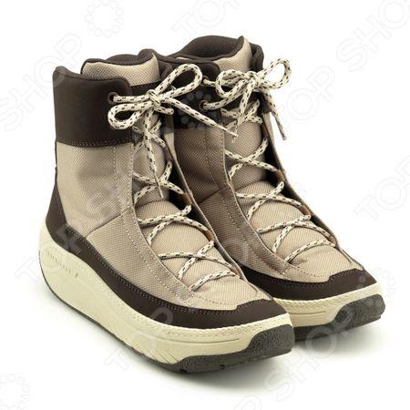 Ботинки демисезонные высокие Walkmaxx. Цвет: бежевый, коричневый
