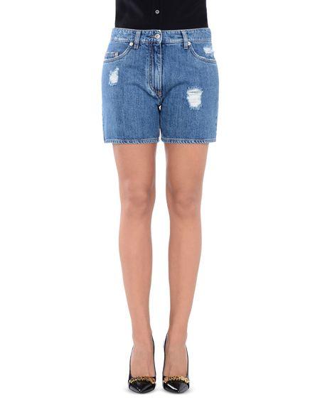 Фото MOSCHINO COUTURE Джинсовые шорты. Купить с доставкой