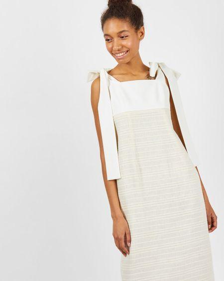 bc5bc9fa3ad 12Storeez Платье миди из круглых матовых - godsend-fx.ru