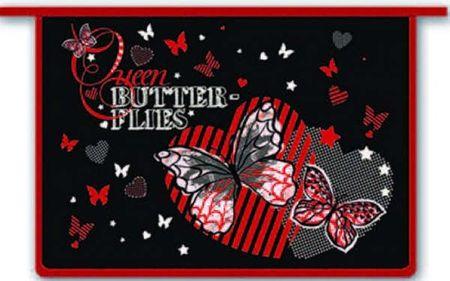 Папка д/тетрадей Феникс+ А4 Бабочки и сердца пластиковая на молнии