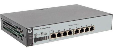 Фото Коммутатор HP 1820-8G управляемый 8 портов 10/100/1000Mbps J9979A. Купить в РФ