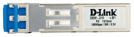 Фото Трансивер сетевой D-Link 100BASE-FX Single-Mode 15KM SFP Transceiver 10 pack DEM-210/10/B1A. Купить в РФ