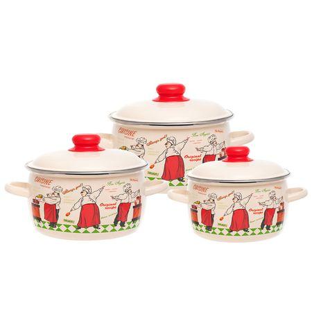 Купить Набор посуды (эмаль) Vitross 1DA021M/C 3шт.: 2/3/4л