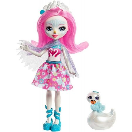 Купить Mattel Enchantimals FRH38 Кукла с питомцем - Лебедь Саффи