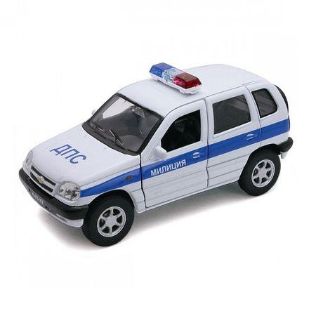 Welly 42379PB Велли Модель машины 1:34-39 Chevrolet Niva МИЛИЦИЯ ДПС