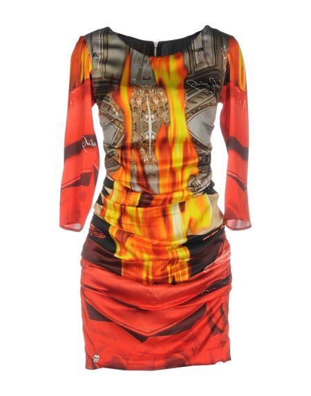 Фото PHILIPP PLEIN Короткое платье. Купить с доставкой