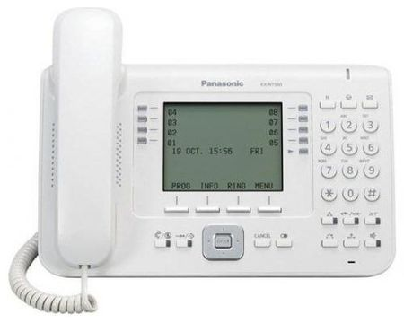 Телефон IP Panasonic KX-NT560RU белый