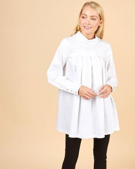 2d1749bcb40 Блуза со складками в полоску - godsend-fx.ru