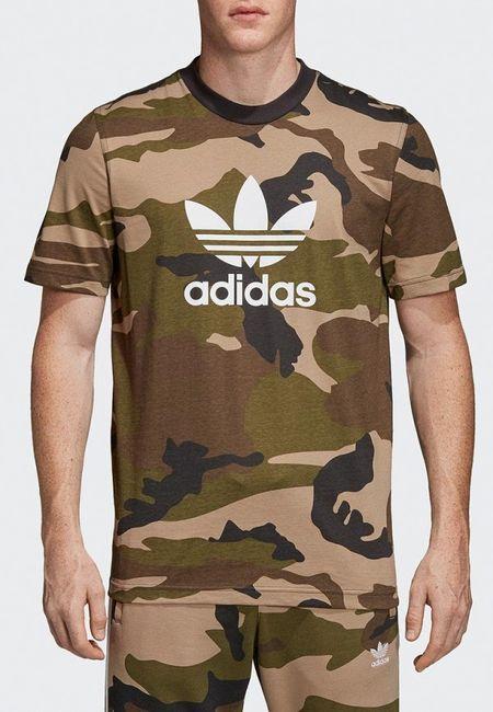 a9a15758c973 Футболка adidas Originals. Цвет: хаки. Сезон: Весна-лето 2019. С бесплатной  доставкой и примеркой на Lamoda.