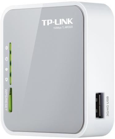 Фото Мобильный роутер TP-LINK TL-MR3020 802.11bgn 150Mbps 2.4 ГГц 1xLAN USB USB белый. Купить в РФ
