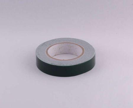 Лента клейкая двухсторонняя выс 1,5см толщ 1мм дл 2м (зеленый) EVA G
